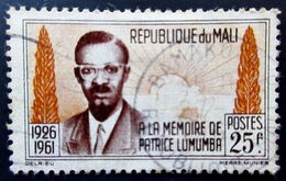 1962 Mali Yt 33, Mi 47 Anniversary Of The Death Of Patrice Lumumba Oblitéré BAMAKO - Mali (1959-...)