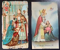 "Antico Santino Holy Card "" S. BIAGIO Vescovo M. ""  Ed.AR 2047 - Religione & Esoterismo"
