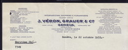 GENEVE - VERON, GRAUER - LETTER INVOICE RECHNUNG FAKTURA 1935 (see Sales Conditions) - Suisse