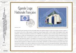""""""" GRANDE LOGE NATIONALE FRANCAISE """" Sur Feuillet CEF N°té En SOIE De 2006 N° 1859s N° YT 3993 Parfait état FDC - Freemasonry"""