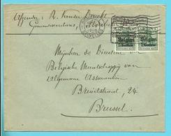 Lettre Germania 14/18 Cachet Etapes GAND - Entete MOERBEKE-WAES (VK) - Guerre 14-18