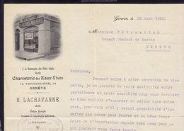 GENEVE - CHARCUTERIE Des EAUX-VIVES - LETTER INVOICE RECHNUNG FAKTURA 1920 (see Sales Conditions) - Suisse