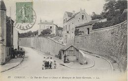 91 CORBEIL - LA RUE  DES FOURS  à CHAUX  Et MONTAGNE De SAINT GERMAIN. ( Le Bureau De L,OCTROI ) - Corbeil Essonnes