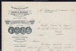 ZURICH - GUEISSAZ FILS - LETTER INVOICE RECHNUNG FAKTURA 1920 (see Sales Conditions) - Suisse