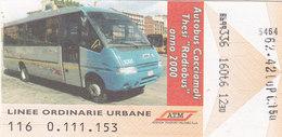 MILANO  /  Biglietto - Linee Ordinarie Urbane  _ A.T.M. - Bus