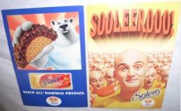 2 Cartes Postales - Algida (Winner Taco - Solero) - Publicité