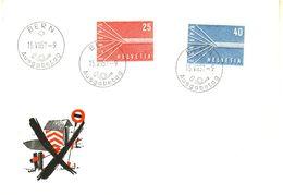 SWITZERLAND 1957  EUROPA CEPT FDC / De Postmark ) - Europa-CEPT