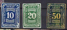 Austria 1889: 3 Danube River DDSG Steamboat Line Revenue Compagnie Danubienne De Navigation à Vapeur - Used Stamps