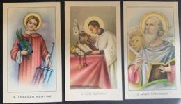 """Santino Holy Card """" S. LORENZO MARTIRE   """" Ed. GMI 91 - Religione & Esoterismo"""