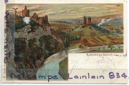 - Rudelsburg . U Saaleck - 1898, Précurseur, Timbre, Belles Couleurs, épaisse, écrite, BE, Scans.. - Allemagne