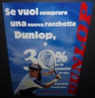 Carte Postale - Raquette Dublop (tennisman) - Publicité