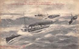 50 - Gros Temps Sur Les Côtes Normandes - Excadrille De Torpilleurs En Manoeuvre Dans La Manche - France