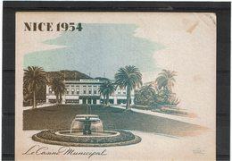 LBR26 - FRANCE EXPO PHIL NAT. NICE 5/6/1954 - Expositions Philatéliques