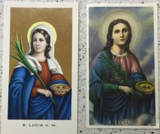 "Santino Holy Card "" SANTA LUCIA V.M.  "" Ed. GMI 12 Bis - Religione & Esoterismo"