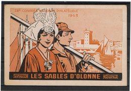 LBR26 - FRANCE EXPO PHIL LES SABLES D'OLONNE 24/5/1953 - Expositions Philatéliques