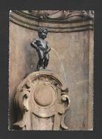 BELGIQUE - BRUXELLES - BRUSSELS - MANNEKEN - PIS  - 2 TRÈS BEAUX TIMBRES - PAR SOUVEXPO - Monuments, édifices