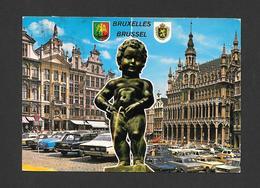 BELGIQUE - BRUXELLES - BRUSSELS - MANNEKEN - PIS  - 2 TRÈS BEAUX TIMBRES - PAR A.V.M. - Monuments, édifices