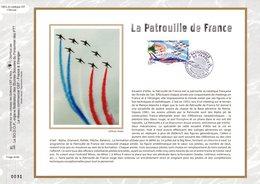 """"""" LA PATROUILLE DE FRANCE """" Sur Feuillet CEF N°té En SOIE De 2008 N°1962s N° YT PA 71 Parfait état FDC - 2000-2009"""