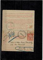 LBR26 - CL CHAPLAIN 45fr PARIS AV. DE SAXE / NEUILLY SUR SEINE 2/2/1954 - Pneumatic Post