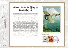 """""""  LOUIS BLERIOT / TRAVERSEE DE LA MANCHE """" Sur Feuillet CEF N°té En SOIE De 2009 N° 2018s N° YT PA 72 Parfait état FDC - 2000-2009"""