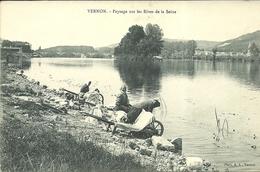 VERNON  -- Payasage Sur Les Rives De La Seine                                        -- A L. - Vernon