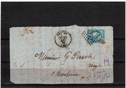 LBR26 - EMISSION DE BORDEAUX 20c TYPE II SUR FRAGMENT NANTES / MORLAIX 13/12/1870 - 1870 Bordeaux Printing