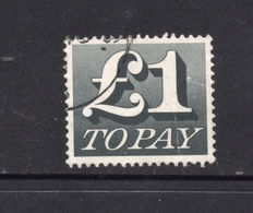 £1 TO PAY Postally Used POSTAGE DUE With Part Circular Postmark GB UK - Taxes