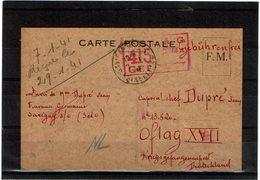 LBR26 - PETITE ARCHIVE DE 2 CARTES ADRESSEES AU OFLAG XVII JANVIER ET MARS 1941 - Guerre Mondiale (Seconde)