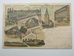 Carte Postale Dannemarie , 1898 , Knick - Dannemarie