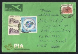 Pakistan PIA Airline Envelope Postal Used Cover Pakistan To Dubai - Pakistan