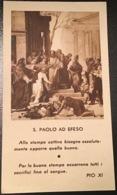 """Antico Santino Holy Card """" SAN PAOLO AD EFESO """"  5a Giornata Quotidiano Cattol. - Religione & Esoterismo"""