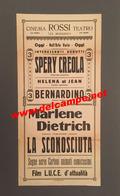 Poster Affiche Locandina ITALY Cinéma Muet German Silent Film Marlene Dietrich La Spezia - Affiches