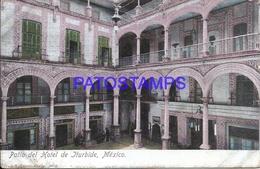 105066 MEXICO PATIO DEL HOTEL DE ITURBIDE INTERIOR SPOTTED POSTAL POSTCARD - Mexique