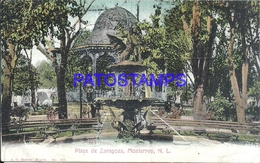 105067 MEXICO MONTERREY NUEVO LEON SQUARE PLAZA DE ZARAGOZA & FUENTE SOURCE POSTAL POSTCARD - Mexique