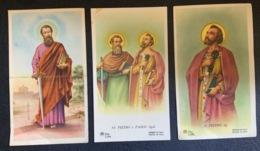 "Antico Santino Holy Card "" SS PIETRO E PAOLO  Ap.li  "" Ed. AR Z/204 - Religione & Esoterismo"