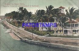 105072 PANAMA AROUND THE BEACH COLON SHOWING HOUSE OF SUPERINTENDENT RAILROAD POSTAL POSTCARD - Panama