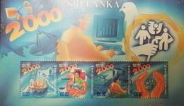 O) 2000 SRI LANKA, SATELLITE -RELIGIOUS SYMBOLS-RED CROSS. SATELLITE DISH-CRIPPLED AND BLIND, MNH - Sri Lanka (Ceylon) (1948-...)