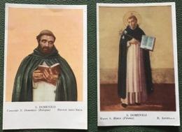 """Antico Santino Holy Card """" SAN DOMENICO """" Da Beato Angelico - Religione & Esoterismo"""
