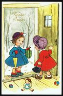 ENFANT - Fillette Apportant Un Cadeau à Son Amie - Circulé - Circulated - Gelaufen - 1966. - Enfants