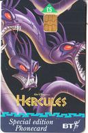 UK -  Disney, Hercules/Hydra(PUB081), Exp.date 31/03/99, Used - Disney