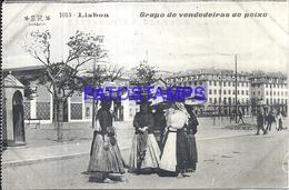 105079 PORTUGAL LISBOA COSTUMES SELLER OF FISH POSTAL POSTCARD - Unclassified