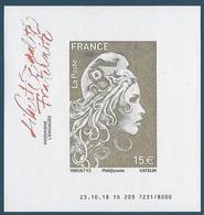 Marianne L'Engagée - Feuillet 15 € + 7 Timbres Non Dentelés  (2018) Neuf** - 2018-... Marianne L'Engagée