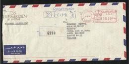 Saudi Arabia  Meter Mark Registered Air Mail Postal Used Cover Al Khobar To Pakistan - Arabie Saoudite