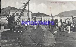 105080 PORTUGAL UNLOADING BRIDGE RAILROAD POSTAL POSTCARD - Unclassified