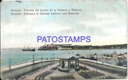 105081 CUBA LA HABANA ENTRANCE HARBOUR AND MALECON POSTAL POSTCARD - Cartes Postales