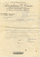 Aéroplanes G. VOISIN - Société Commerciale, 36 Bd Gambetta ISSY-LES-MOULINEAUX - Lettre De 1931 - Aviation,automobiles - Voitures De Tourisme