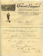 CLÉMENT BAYARD - Automobiles, Dirigeables, Aéroplanes - LEVALLOIS - Lettre De 1914 - Aviation - Dirigeables