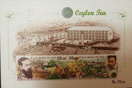O) 2017 SRI LANKA,  JAMES TAYLOR -TEA-ENERGY DRINK -MEDICINAL PLANT -PRODUCTION -INDUSTRY. CEYLON. MNH - Sri Lanka (Ceylon) (1948-...)