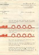 CITROËN - Lettre Publicitaire De 4 Pages - 1930 - Publicité - (3 Scans) - Passenger Cars