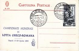ITALY  WRESTLING  GRECO-ROMAN  CHAMPIONSHIPS  1953 - Wrestling